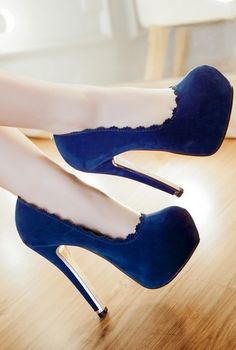 Sexy lace high-heeled shoes
