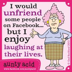 Anyone else got that FB friend who you keep for this reason? Guilty!!!