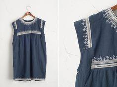 Ethnic boho dress, navy  www.oliveclothing.com