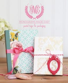 Monograms Made Easy: Modern Romance Tags & Packaging Template | Damask Love Blog