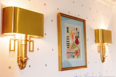 How chic are these gold sconces in this kids room?!