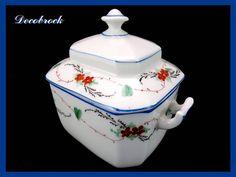 Sucrier ancien en porcelaine de Paris XIX ème déco shabby chic décoration de table vintage France vintagefr de la boutique decobrock sur Etsy