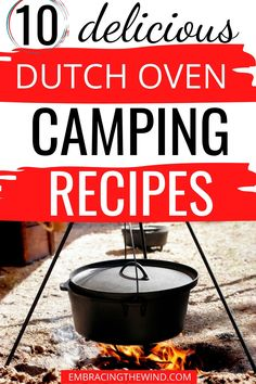 These dutch oven camping recipes are so easy and delicious! Dinner at the campsite will never be the same - no more boring hot dogs! Campfire Dutch Oven Recipes, Campfire Food, Cooking Over Fire, Oven Cooking, Duch Oven Recipes, Camping Meals, Camping Recipes, Grill Recipes, Camping Hacks