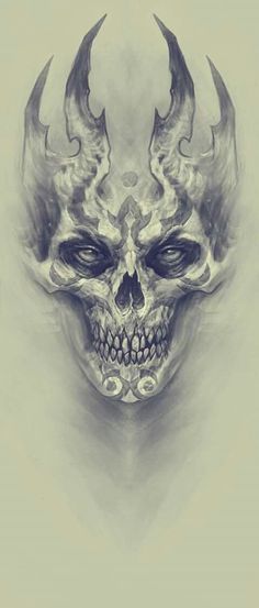 Demon, Kazimirov Dmitriy - Beautiful Skull More - . - Demon, Kazimirov Dmitriy – Beautiful Skull More – - Skull Tattoo Design, Skull Design, Skull Tattoos, Body Art Tattoos, Tattoo Drawings, Tattoo Designs, Evil Skull Tattoo, Demon Drawings, Skull Drawings