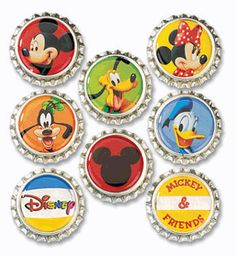 8 caps per package. Add a trendy embellishment to your scrapbooks with Sticko Disney Bottle Caps. They are the original size of bottle caps and look just like Bottle Cap Magnets, Bottle Cap Necklace, Bottle Cap Crafts, Bottle Caps, Disney Theme, Disney Pins, Disney Mickey, Disney Cruise, Disney Shopping