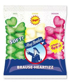 Frigeo Ahoj-Brause Heartizz, 4-er Pack (4 x 200 g): Amazon.de: Lebensmittel & Getränke