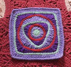 "Ravelry: Child's Play 9"" Afghan Square pattern by Rebecca Bisbing"