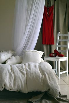 Natural Linen bedding. Duvet Cover. Rustic Rough Heavy weight white stonewashed linen. Custom sizes
