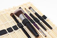 Makeup Brush Organizer from a Placemat | 40 Brilliant DIY Organization Hacks via Brit + Co.