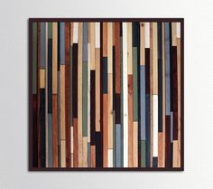 Square Sea Crest  Reclaimed Wood Art in Browns by ScrapWoodDesign