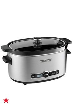You don't have to stand around the kitchen all day with the help of this KitchenAid slow cooker. Set your meal to cook with the 24-hour programmability and four different temperature settings and enjoy your time with the family till it's done! Visit macys.com for more!