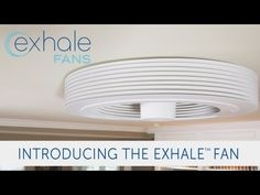 A Revolutionary Bladeless Ceiling Fan by Exhale Fans . This Exhale bladeless ceiling fan is inspired from Tesla. Richard Halsall and Nik Hiner have found a Decor, Ceiling Fan Alternative, House Design, Home Comforts, Bathroom Fixtures, Table Fans, Ceiling, Bladeless Fan, Copper Ceiling