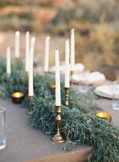 evergreens + brass + neutrals | heather hawkins