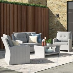 Garden Sofa Sets You'll Love | Wayfair.co.uk 5 Seater Corner Sofa, Rattan Corner Sofa Set, 5 Seater Sofa, Rattan Sofa, Conversation Sofa, Sofa Set Online, Garden Sofa Set, Adjustable Table, Lounge