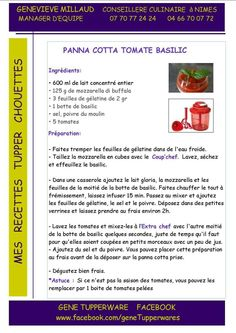 Pana cotta tomate basilic - Tupperware