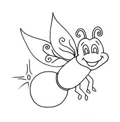 firefly beautiful firefly coloring page