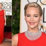 Jennifer Lawrence de Dior - Golden Globes 2016