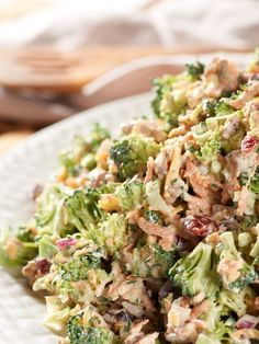 This recipe is perfect for LaborDay picnics and BBQs.  #Summer #Broccoli #Salad