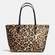COACH Designer Totes | Turnlock Tote In Wild Beast Print Leather