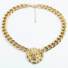 Characteristic Lion Head Pendant Alloy Necklace For Women, AS THE PICTURE in Necklaces | DressLily.com