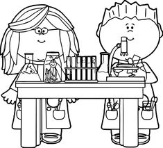 Chemistry Coloring Pages Coloring Pages For Teenagers, School Coloring Pages, Easy Coloring Pages, Animal Coloring Pages, Printable Coloring Pages, Coloring Books, Pre Reading Activities, Clipart Black And White, Disney S