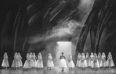 Giselle, Hamburg Ballett. © Marcus Renner Oh my word...the set!! Love this in black and white. Brilliant.