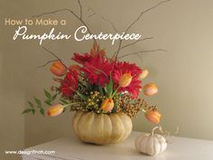 How to Make a Pumpkin Centerpiece | www.designfinch.com