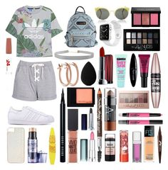 """""""Sin título #466"""" by frichu on Polyvore featuring moda, Boohoo, adidas Originals, RetroSuperFuture, claire's, Humble Chic, Apple, Pori, Bobbi Brown Cosmetics y beautyblender"""