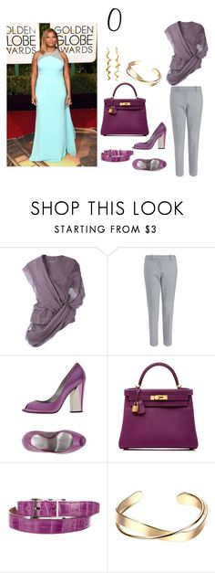 """""""Type of shape - O"""" by molodid on Polyvore featuring мода, Rick Owens, Casadei и Hermès"""