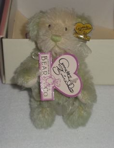 Annette Funicello Collectible Bear Co.with Lace Collar And Heart Pin Sophisticated Technologies Annette Funicello