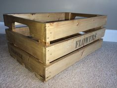 How to make a Wooden Crate! - All