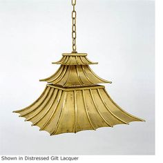 Hanging Downturned Pagoda Shade Light HS 219