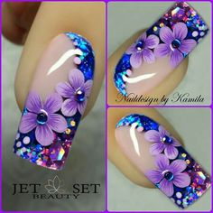 Beautiful nail art designs that are just too cute to resist. It's time to try out something new with your nail art. Beautiful Nail Designs, Beautiful Nail Art, Gorgeous Nails, Fancy Nails, Trendy Nails, Cute Nails, Fingernail Designs, Toe Nail Designs, Nails Design