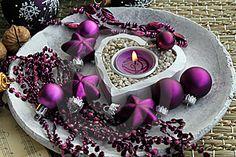 Royalty Free Stock Image: Purple christmas decorations. Image: 17105826