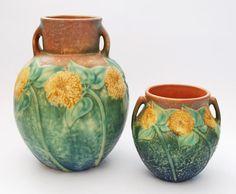 Sunflower Pattern, Roseville Pottery - c1930