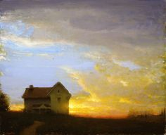 """Sunset"" by Gregg Kreutz, American contemporary painter, b.1947"