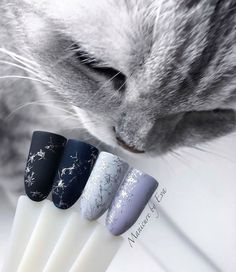30 Most Trendy and Attractive Night Nails Art (Acrylic Nails, Matte Nails) For Prom In 2019 - PinningFashionPinningFashion Nail Swag, Xmas Nails, Christmas Nails, Gorgeous Nails, Pretty Nails, Matte Nails, Acrylic Nails, Nail Art Noel, Diva Nails