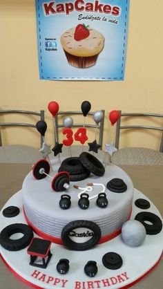 Crossfit Cake Fitness Gym Dad Birthday Cakes Sports