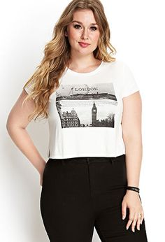 London Calling Knit Tee   FOREVER21 PLUS - 2000067387