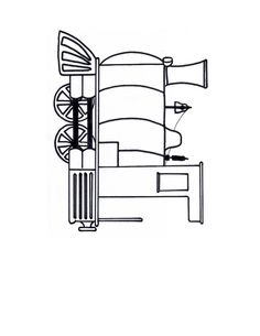 Free Steam Train Engine Template craft colouring