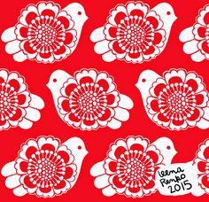 Leena Renko... Fabric, Modern, Cards, Design, Fabrics, Tejido, Maps, Design Comics, Playing Cards