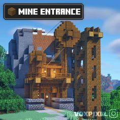 Minecraft Horse, Minecraft House Plans, Minecraft Farm, Minecraft Images, Mine Minecraft, Minecraft Cottage, Minecraft Castle, Minecraft Survival, Minecraft Construction