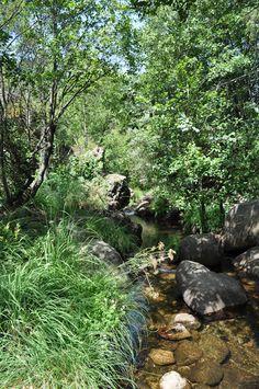 El Charco del Moro en  la  Garganta de Gualtaminos Ven A Veragua y decubre la Vera. www.veraguaocio.com Alojamiento en La Vera. Turismo Extremadura Imagen de archivo Veragua