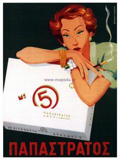 Retro Poster of cigarettes