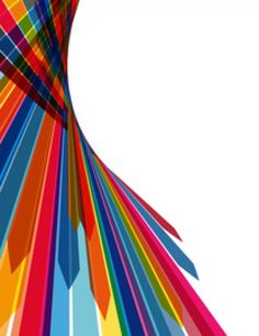 Colorful stripy arrows abstract background