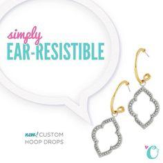 New Hoop Drop earrings coming this Fall :)