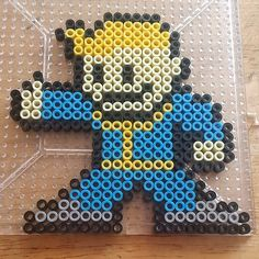 Fallout: Vault boy perler beads by the_nerdy_girl_crafter