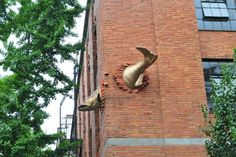 10. Escultura de salmón, en Portland