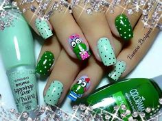 Sapitos Nails, Beauty, Mary, Stuff Stuff, Green, Black, Flowers, Ongles, Finger Nails