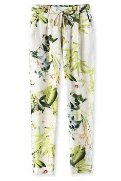 Plant Print Pants